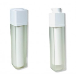 ΦΙΑΛΗ AIRLESS 50ml ακρυλική με λευκή αντλία